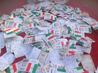 Defecting PDP members dump their membership cards as well