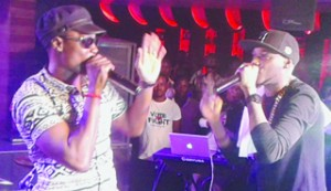 •Sound Sultan and 2face performing at the Industry Nite