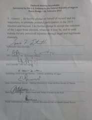 The Peace Pledge signed by Ambode and Agbaje