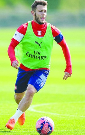 •Wilshere, fit to face Reading tomorrow