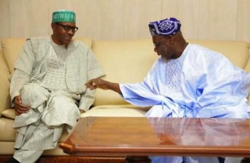 President  Muhammadu Buhari and Chief Olusegun Obasanjo