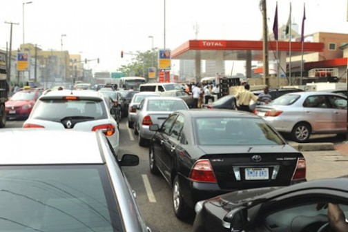 File Photo: A fuel queue in Nigeria