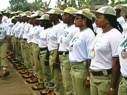 National Youth Service Corp members during a parade