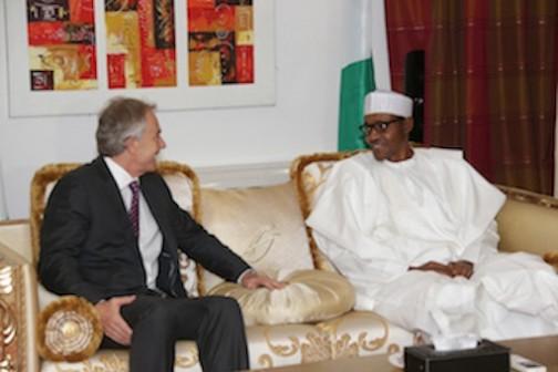 Tony Blair and President Muhammadu Buhari during his visit to Nigeria