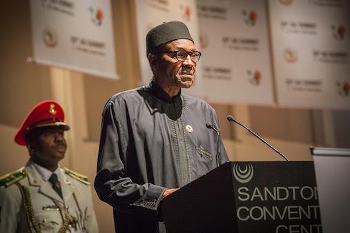 President Muhammadu Buhari talks