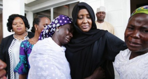 FILE PHOTO: Chibok mothers meet President Buhari and his wife
