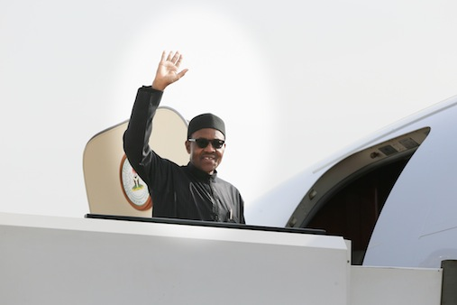 Farewell Nigeria: President Buhari departs for AU SUmmit in South Africa