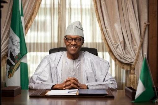 President Muhammadu Buhari laugh smiles