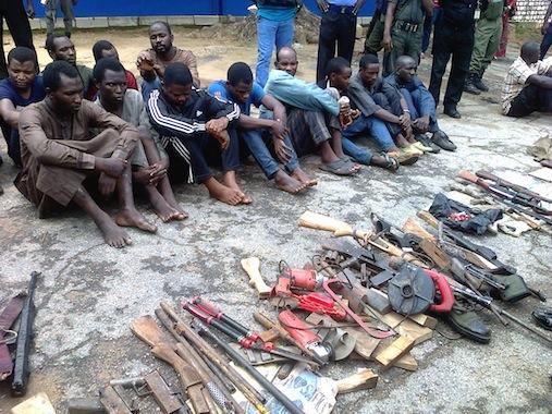 paraded armed robbers in Kaduna