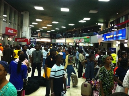 Muritala Muhammed International Airport in Lagos, Nigeria