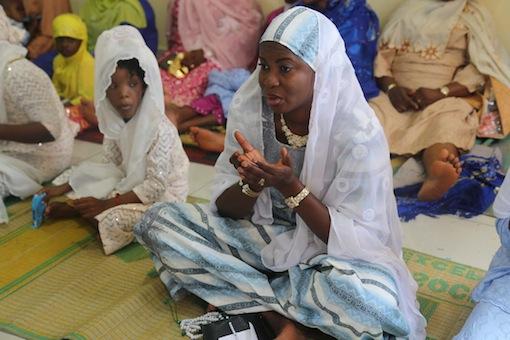 Muslim faithfull offering prayer at Nasfat Musque this morning