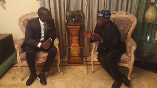 Are they talking politics or is Tinubu showing off his rap skills?