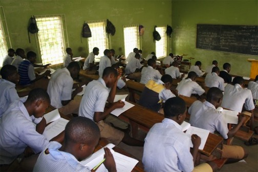 Students writing WAEC in Nigeria