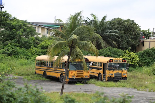 Like school building, like school bus.  Photo: Idowu Ogunleye