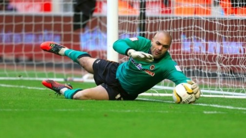 Carl Ikeme in action for Wolves