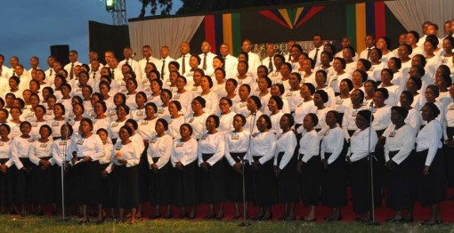 Deeper Life choir performing at the crusade