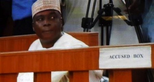 Senator Bukola Saraki in the dock
