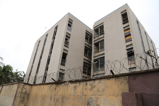 Side view of what used to be the school hostel