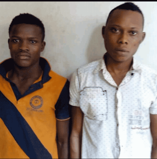 Some of the suspected robbers and rapists arrested in Ogun state