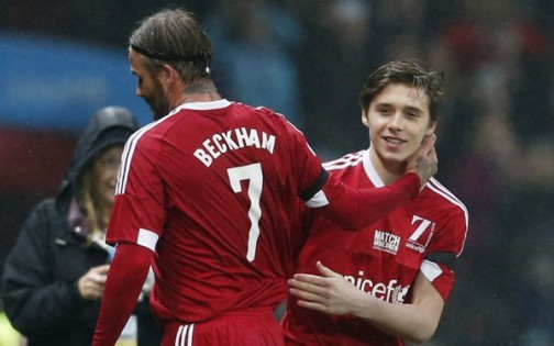 David Beckham replaced by son, Brooklyn