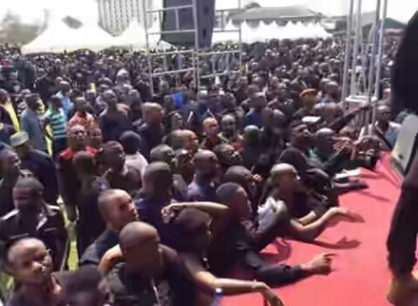BLACK MONDAY: Thousands of APC supporters in black attire to honour 98 members killed during the last general elections in Rivers State