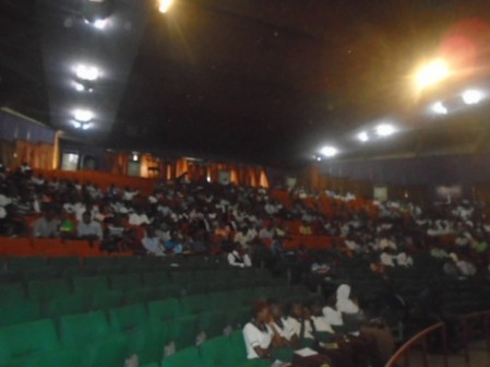 A cross section of students at the lecture in honour of late Gani Fawehinmi