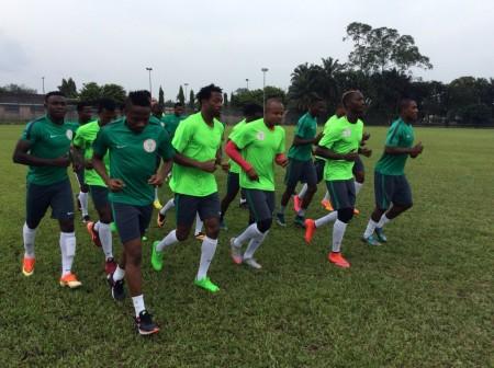Super Eagles training in Port Harcourt