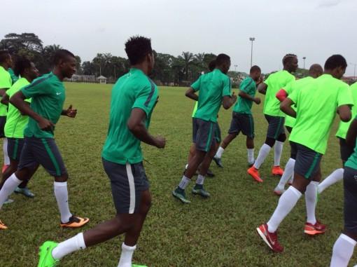 Super Eagles training