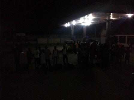 FILE PHOTO: People wait till late in the night to purchase petrol Seun Bisuga/PM News