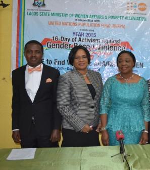 L-R: Jide Ologun, Dr. Elizabeth Oduwole and Lola Akande, WAPA Commissioner at the event