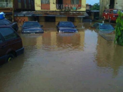Flooded house Lagos