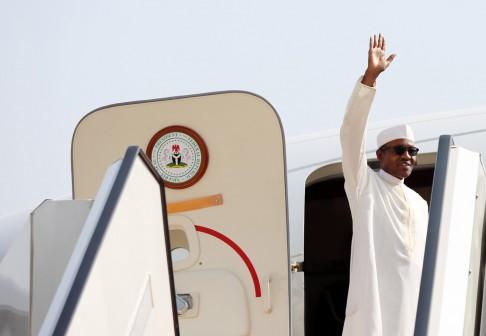 File Photo: President Muhammadu Buhari departing Nigeria