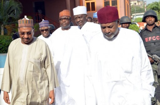 Sambo Dasuki (R) along with Malam Bashir Yuguda, Alhaji Attahiru Bafarawa