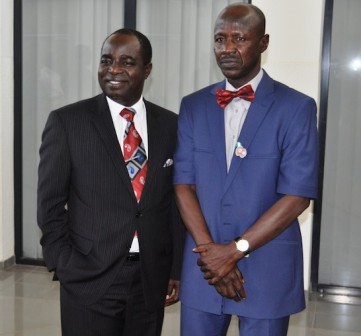 Chairman House of Representatives Committee on Narcotics, Financial Crimes and Anti- Corruption, Hon. Kayode Oladele and EFCC boss, Ibrahim Magu