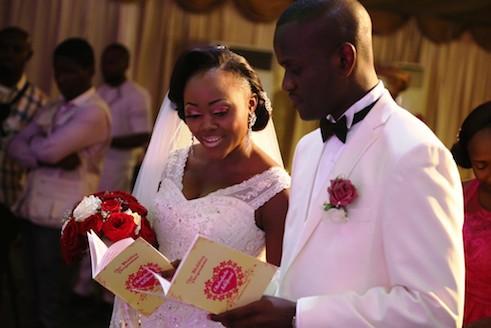 Adefemi Onanuga and his wife at the church service