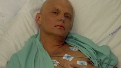 Alexander Litvinenko in hospital after his poisoning Photo: Getty Image