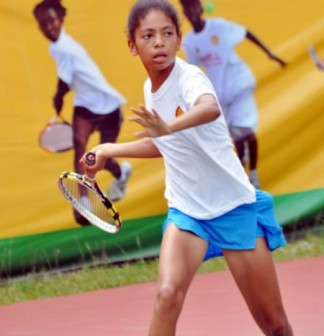 Angel-McCleod, one of Nigerian players at the ongoing ITF   junior circuit in Abuja