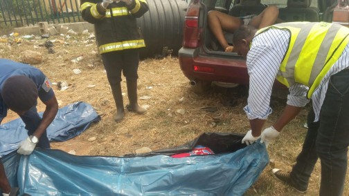 Dead bodies being evacuated after the Ijede boat tragedy on Saturday, 30 Jan 2016