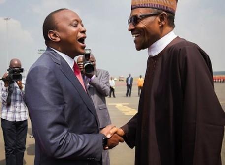 President Uhuru Kenyatta of Kenya and President Muhammadu Buhari of Nigeria