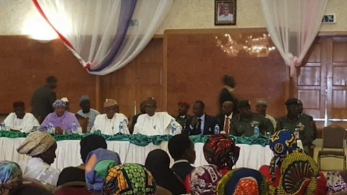 Buhari meets with parents of abducted Chibok schoolgirls