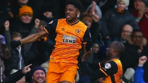 Chuba Akpom scores three times for Hull City