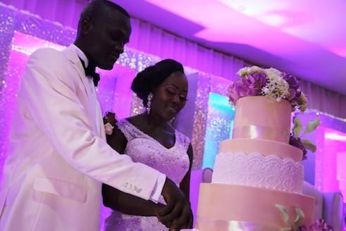 The cutting of cake: Adefemi and Olubukola