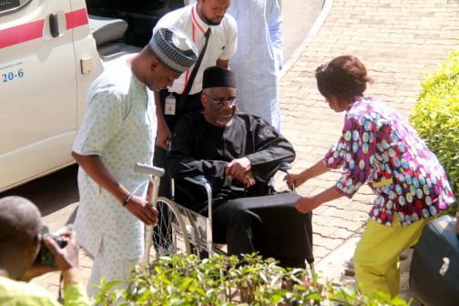 Dr Mohammed Bello Haliru, arriving the court on Thursday, 7 January, 2016 got N300m alongside his son, Abba  Photos: Femi Ipaye