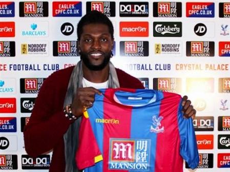 Unveiled: Emmanuel Adebayor joins Crystal Palace till end of the season