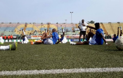 Enyimba players in training