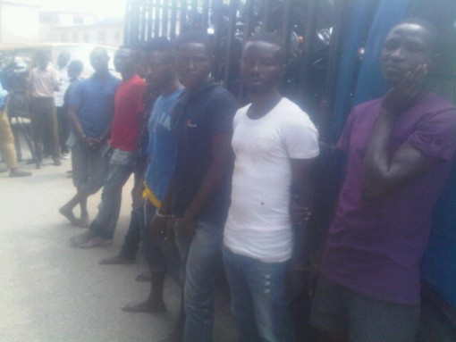 Faces of suspected cult members paraded by the police in Lagos