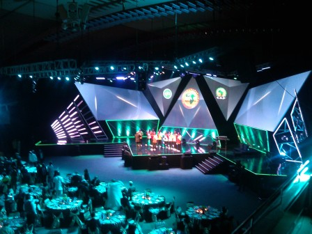International Conference Centre, Abuja, Nigeria, venue of the 2015 Glo/CAF African Footballer of the Year Awards. Photos: Femi Ipaye