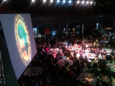 Inside the International Conference Centre, Abuja, Nigeria, venue of the 2015 Glo/CAF African Footballer of the Year Awards