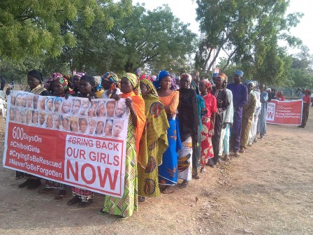 Parents of Chibok Girls on the march in Abuja, Nigeria's capital. Photos: Femi Ipaye