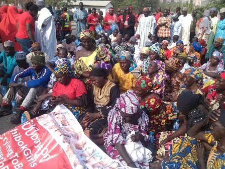 Parents of Chibok Girls in Abuja on Thursday, 14 January, 2016